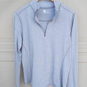 Carhartt womens light grey half zip sweater size m
